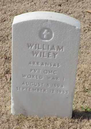WILEY (VETERAN WWI), WILLIAM - Pulaski County, Arkansas | WILLIAM WILEY (VETERAN WWI) - Arkansas Gravestone Photos