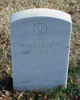 WILKEN (VETERAN WWI), WILLIAM G - Pulaski County, Arkansas | WILLIAM G WILKEN (VETERAN WWI) - Arkansas Gravestone Photos