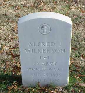WILKERSON (VETERAN WWI), ALFRED J - Pulaski County, Arkansas | ALFRED J WILKERSON (VETERAN WWI) - Arkansas Gravestone Photos