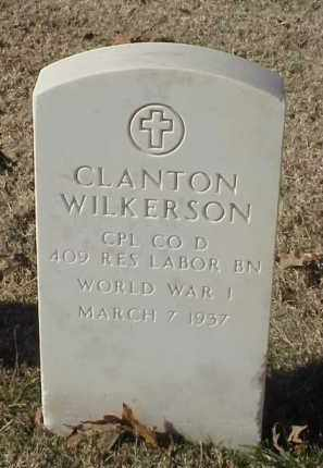 WILKERSON (VETERAN WWI), CLANTON - Pulaski County, Arkansas | CLANTON WILKERSON (VETERAN WWI) - Arkansas Gravestone Photos