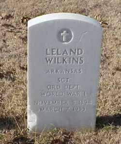 WILKINS (VETERAN WWI), LELAND - Pulaski County, Arkansas | LELAND WILKINS (VETERAN WWI) - Arkansas Gravestone Photos