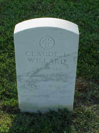 WILLARD (VETERAN WWII), CLAUDE L - Pulaski County, Arkansas | CLAUDE L WILLARD (VETERAN WWII) - Arkansas Gravestone Photos