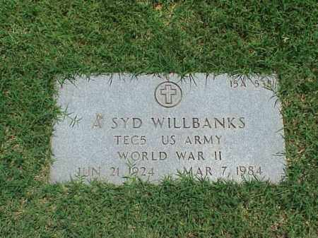 WILLBANKS (VETERAN WWII), ALBERT SYD - Pulaski County, Arkansas | ALBERT SYD WILLBANKS (VETERAN WWII) - Arkansas Gravestone Photos