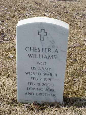 WILLIAMS  (VETERAN WWII), CHESTER A - Pulaski County, Arkansas | CHESTER A WILLIAMS  (VETERAN WWII) - Arkansas Gravestone Photos