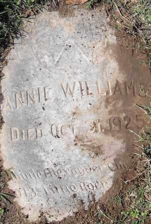 WILLIAMS, ANNIE - Pulaski County, Arkansas | ANNIE WILLIAMS - Arkansas Gravestone Photos
