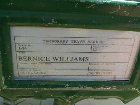 WILLIAMS, BERNICE - Pulaski County, Arkansas | BERNICE WILLIAMS - Arkansas Gravestone Photos