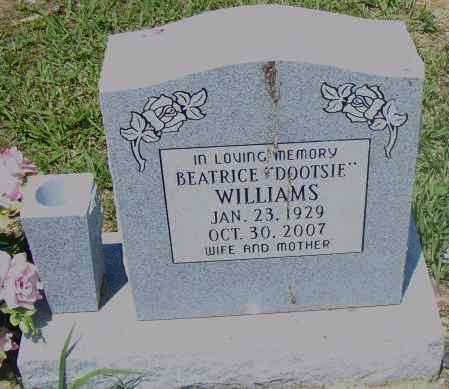 "WILLIAMS, BERNICE ""DOOTSIE"" - Pulaski County, Arkansas 