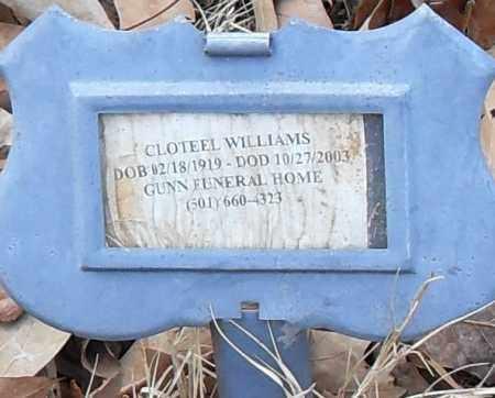 WILLIAMS, CLOTEEL - Pulaski County, Arkansas | CLOTEEL WILLIAMS - Arkansas Gravestone Photos
