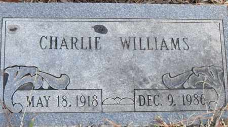 WILLIAMS, CHARLIE - Pulaski County, Arkansas | CHARLIE WILLIAMS - Arkansas Gravestone Photos