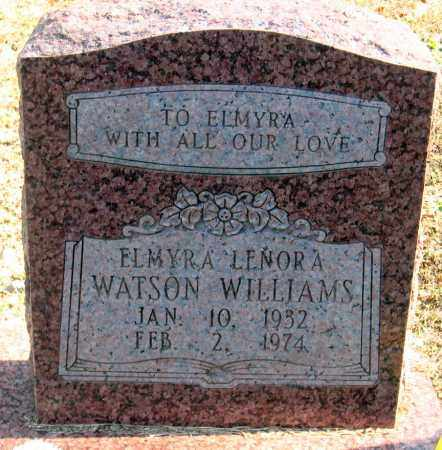 WATSON WILLIAMS, ELMYRA LENORA - Pulaski County, Arkansas | ELMYRA LENORA WATSON WILLIAMS - Arkansas Gravestone Photos