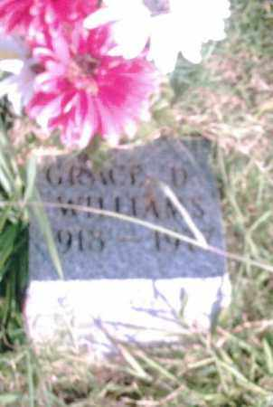 WILLIAMS, GRACE D. - Pulaski County, Arkansas | GRACE D. WILLIAMS - Arkansas Gravestone Photos