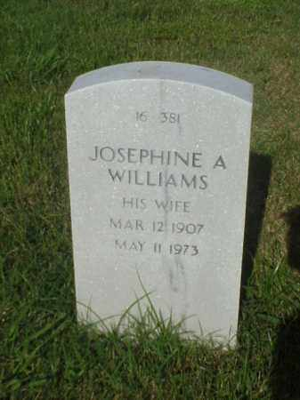 WILLIAMS, JOSEPHINE A - Pulaski County, Arkansas | JOSEPHINE A WILLIAMS - Arkansas Gravestone Photos