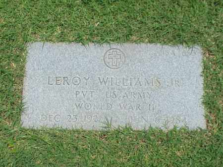 WILLIAMS, JR (VETERAN WWII), LEROY - Pulaski County, Arkansas | LEROY WILLIAMS, JR (VETERAN WWII) - Arkansas Gravestone Photos