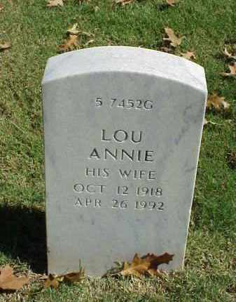 WILLIAMS, LOU ANNIE - Pulaski County, Arkansas | LOU ANNIE WILLIAMS - Arkansas Gravestone Photos