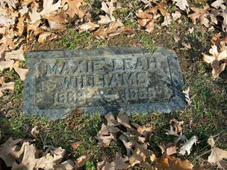 WILLIAMS, MAXIE LEAH - Pulaski County, Arkansas | MAXIE LEAH WILLIAMS - Arkansas Gravestone Photos