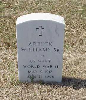WILLIAMS, SR (VETERAN WWII), ARBECK - Pulaski County, Arkansas | ARBECK WILLIAMS, SR (VETERAN WWII) - Arkansas Gravestone Photos