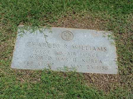 WILLIAMS (VETERAN 2 WARS), CHARLES R - Pulaski County, Arkansas | CHARLES R WILLIAMS (VETERAN 2 WARS) - Arkansas Gravestone Photos