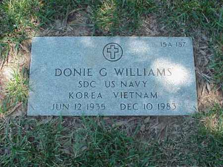 WILLIAMS (VETERAN 2 WARS), DONIE G - Pulaski County, Arkansas | DONIE G WILLIAMS (VETERAN 2 WARS) - Arkansas Gravestone Photos