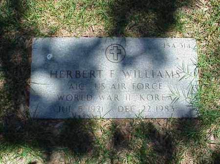WILLIAMS (VETERAN 2 WARS), HERBERT F - Pulaski County, Arkansas | HERBERT F WILLIAMS (VETERAN 2 WARS) - Arkansas Gravestone Photos