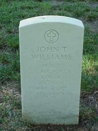 WILLIAMS (VETERAN 2 WARS), JOHN T - Pulaski County, Arkansas   JOHN T WILLIAMS (VETERAN 2 WARS) - Arkansas Gravestone Photos