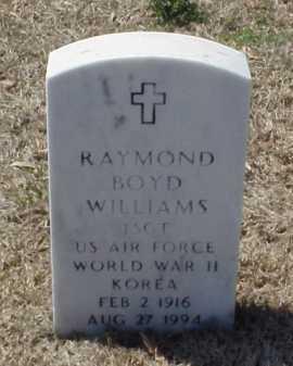 WILLIAMS (VETERAN 2 WARS), RAYMOND BOYD - Pulaski County, Arkansas | RAYMOND BOYD WILLIAMS (VETERAN 2 WARS) - Arkansas Gravestone Photos