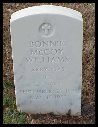 WILLIAMS (VETERAN), BONNIE - Pulaski County, Arkansas | BONNIE WILLIAMS (VETERAN) - Arkansas Gravestone Photos
