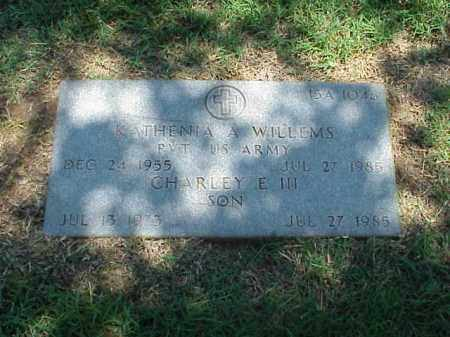 WILLEMS,  III, CHARLEY E - Pulaski County, Arkansas | CHARLEY E WILLEMS,  III - Arkansas Gravestone Photos