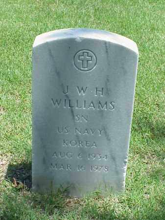 WILLIAMS (VETERAN KOR), J W H - Pulaski County, Arkansas | J W H WILLIAMS (VETERAN KOR) - Arkansas Gravestone Photos