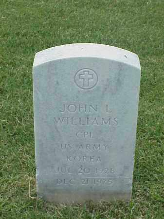 WILLIAMS (VETERAN KOR), JOHN L - Pulaski County, Arkansas | JOHN L WILLIAMS (VETERAN KOR) - Arkansas Gravestone Photos