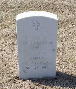 WILLIAMS (VETERAN KOR), LEON C - Pulaski County, Arkansas | LEON C WILLIAMS (VETERAN KOR) - Arkansas Gravestone Photos