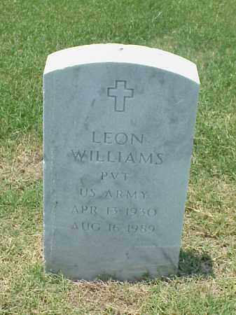 WILLIAMS (VETERAN), LEON - Pulaski County, Arkansas | LEON WILLIAMS (VETERAN) - Arkansas Gravestone Photos