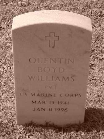 WILLIAMS (VETERAN), QUENTIN BOYD - Pulaski County, Arkansas | QUENTIN BOYD WILLIAMS (VETERAN) - Arkansas Gravestone Photos