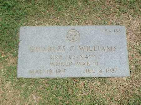 WILLIAMS (VETERAN WWII), CHARLES C - Pulaski County, Arkansas | CHARLES C WILLIAMS (VETERAN WWII) - Arkansas Gravestone Photos