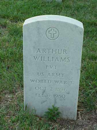WILLIAMS (VETERAN WWI), ARTHUR - Pulaski County, Arkansas | ARTHUR WILLIAMS (VETERAN WWI) - Arkansas Gravestone Photos
