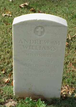 WILLIAMS (VETERAN WWI), ANDREW M - Pulaski County, Arkansas | ANDREW M WILLIAMS (VETERAN WWI) - Arkansas Gravestone Photos