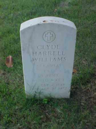 WILLIAMS (VETERAN WWI), CLYDE HARRELL - Pulaski County, Arkansas | CLYDE HARRELL WILLIAMS (VETERAN WWI) - Arkansas Gravestone Photos