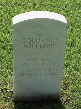 WILLIAMS (VETERAN WWI), COLUMBUS - Pulaski County, Arkansas | COLUMBUS WILLIAMS (VETERAN WWI) - Arkansas Gravestone Photos