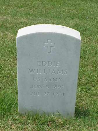 WILLIAMS (VETERAN WWI), EDDIE - Pulaski County, Arkansas | EDDIE WILLIAMS (VETERAN WWI) - Arkansas Gravestone Photos