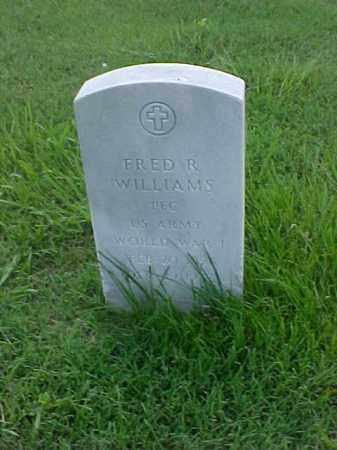 WILLIAMS (VETERAN WWI), FRED R - Pulaski County, Arkansas   FRED R WILLIAMS (VETERAN WWI) - Arkansas Gravestone Photos