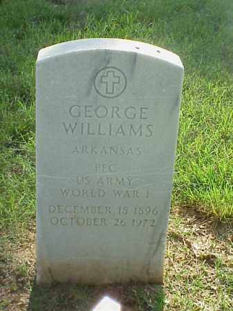 WILLIAMS (VETERAN WWI), GEORGE - Pulaski County, Arkansas | GEORGE WILLIAMS (VETERAN WWI) - Arkansas Gravestone Photos