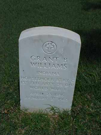 WILLIAMS (VETERAN WWI), GRANT B - Pulaski County, Arkansas | GRANT B WILLIAMS (VETERAN WWI) - Arkansas Gravestone Photos
