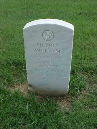 WILLIAMS (VETERAN WWI), HENRY - Pulaski County, Arkansas | HENRY WILLIAMS (VETERAN WWI) - Arkansas Gravestone Photos