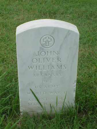 WILLIAMS (VETERAN WWII), JOHN OLIVER - Pulaski County, Arkansas | JOHN OLIVER WILLIAMS (VETERAN WWII) - Arkansas Gravestone Photos