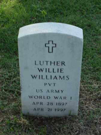 WILLIAMS (VETERAN WWI), LUTHER WILLIE - Pulaski County, Arkansas | LUTHER WILLIE WILLIAMS (VETERAN WWI) - Arkansas Gravestone Photos