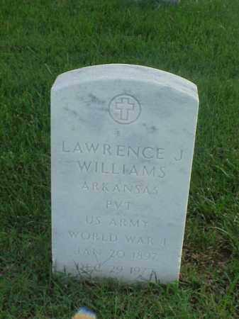 WILLIAMS (VETERAN WWI), LAWRENCE J - Pulaski County, Arkansas | LAWRENCE J WILLIAMS (VETERAN WWI) - Arkansas Gravestone Photos
