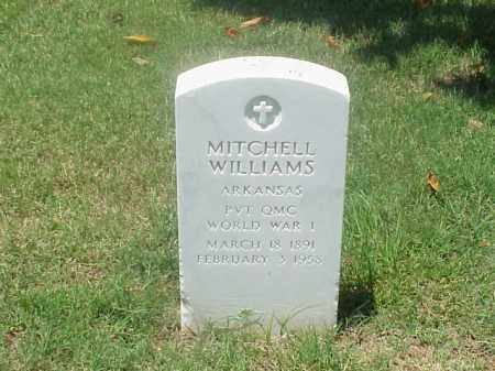 WILLIAMS (VETERAN WWI), MITCHELL - Pulaski County, Arkansas | MITCHELL WILLIAMS (VETERAN WWI) - Arkansas Gravestone Photos