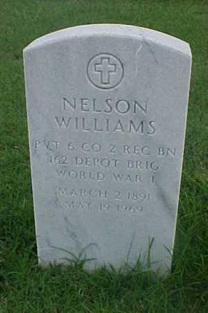 WILLIAMS (VETERAN WWI), NELSON - Pulaski County, Arkansas | NELSON WILLIAMS (VETERAN WWI) - Arkansas Gravestone Photos