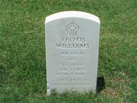 WILLIAMS (VETERAN WWI), VEOTIS - Pulaski County, Arkansas | VEOTIS WILLIAMS (VETERAN WWI) - Arkansas Gravestone Photos