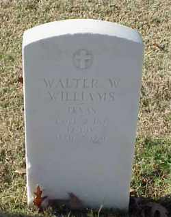 WILLIAMS (VETERAN WWI), WALTER W - Pulaski County, Arkansas | WALTER W WILLIAMS (VETERAN WWI) - Arkansas Gravestone Photos