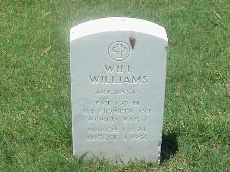 WILLIAMS (VETERAN WWI), WILL - Pulaski County, Arkansas | WILL WILLIAMS (VETERAN WWI) - Arkansas Gravestone Photos